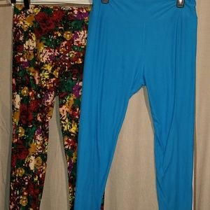 LuLaRoe T&C Legging Lot of 2